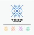 ar augmentation cyber eye lens 5 color line web vector image