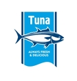 Atlantic bluefin tuna fish icon for seafood design vector image vector image