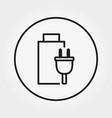 battery icon line vector image vector image