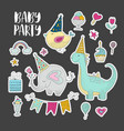 big set of birthday party clip arts vector image vector image