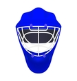 Blue goalie hockey helmet vector image