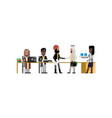 business meeting in conference room vector image vector image