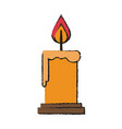 candle fire flame vector image vector image