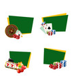 casino gamble stickers with place for text vector image