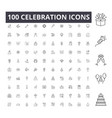 celebration line icons signs set outline vector image vector image
