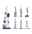 cellular communication towers set towers vector image vector image