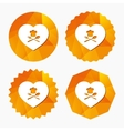 Chef hat sign icon Love Cooking symbol vector image vector image