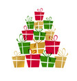 christmas tree of gifts eps 10 vector image
