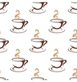 Coffee seamless pattern with cappuccino cups vector image