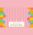collection stock childrens day cute background vector image vector image