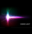 colorful cosmic light vector image