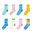 colorful socks icons vector image vector image