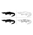 cut crocodile set poster butcher diagram vector image vector image