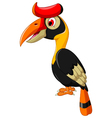cute horn bill cartoon posing vector image vector image
