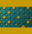 design background with floating circles of yellow vector image vector image