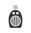 domestic portable heater glyph single isolated vector image vector image