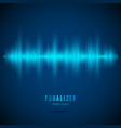equalizer music wave abstract digital audio track vector image vector image