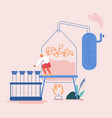 essential oil making concept woman perfumer vector image vector image