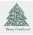 ethnic doodle fir tree vector image