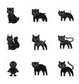 farm production zoo and other web icon in black vector image