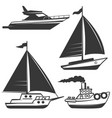 fishermans boat vector image vector image