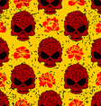 Flower skull seamless pattern in grunge style vector image vector image
