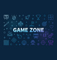 game zone colored outline horizontal vector image vector image