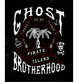 ghost brotherhood handmade palms trees vector image vector image