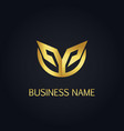 gold abstract initial design logo vector image