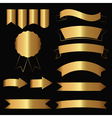 gold contour icons vector image vector image