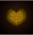 gold sequins sparkle glitter heart romantic style vector image