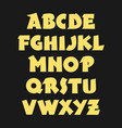 hand drawn bold gothic font alphabet vector image