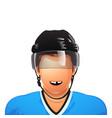 hockey palyer no tooth vector image vector image