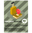holidays color isometric poster vector image