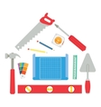 House made of tools vector image vector image