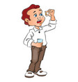 ill man taking a pill vector image vector image