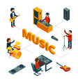 isometric music concept musicians singer vector image vector image