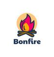 logo bonfire simple mascot style vector image