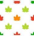 maple leaves seamless pattern flat style vector image vector image