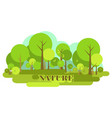 nature of the environment vector image