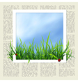 newspaper with grass vector image vector image