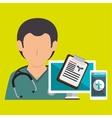 nurse doctor laptop medical vector image vector image