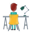 office desk and chair with worker vector image vector image