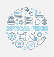 optical fiber round creative linear vector image