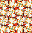Pattern abstraction of colored ovals vector image vector image