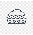 pie concept linear icon isolated on transparent vector image vector image