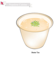 Po Cha or Nepalese Butter Milk with Salted Flavor vector image vector image