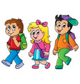 school kids theme image 3 vector image vector image