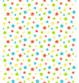 Seamless bright abstract pattern with stars vector image vector image