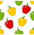 seamless peppers pattern vector image
